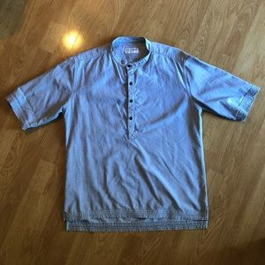 American Apparel Collarless Button Down